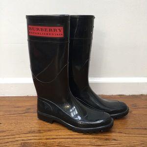 Burberry Black Rain Boots